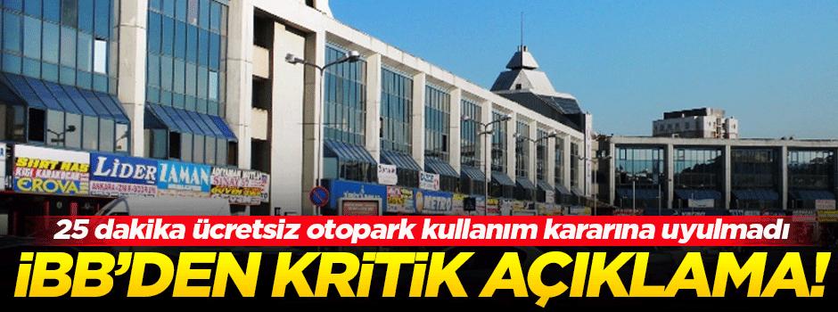 İBB'den kritik İstanbul Otogarı açıklaması