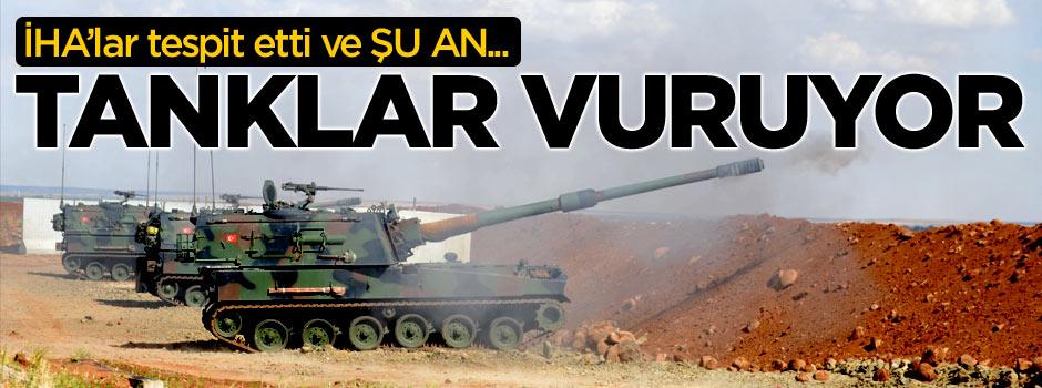 Tanklar PKK hedeflerini vuruyor