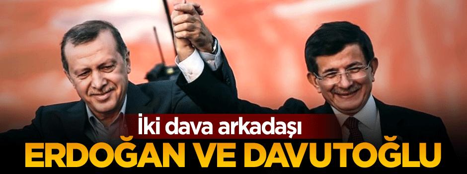 İki dava arkadaşı Erdoğan ve Davutoğlu
