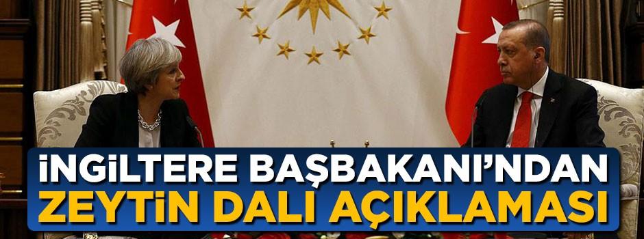 İngiltere Başbakanı'ndan Zeytin Dalı açıklaması