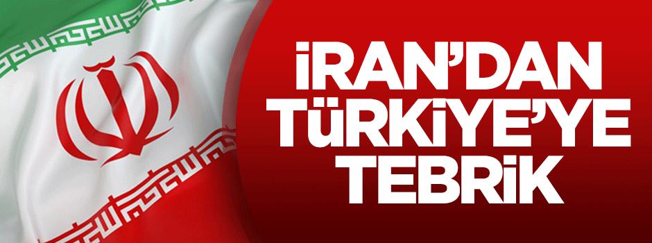 İran'dan Türkiye'ye tebrik