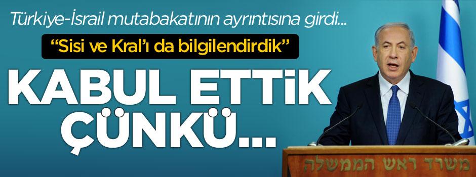 Netanyahu'dan flaş Türkiye açıklaması