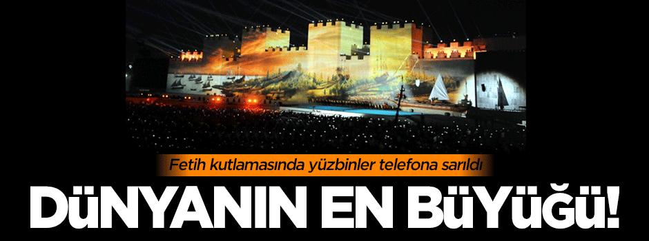 İstanbul'da dünyanın en büyük 3D sahnesi!