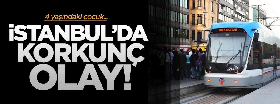 İstanbul'da korkunç tramvay kazası!