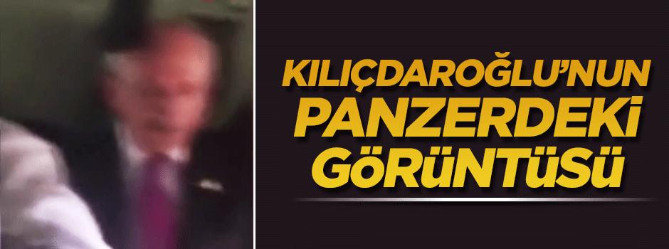Kılıçdaroğlu'nun zırhlı panzerdeki görüntüleri