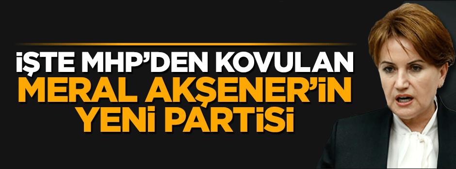İşte MHP'den kovulan Meral Akşener'in yeni partisi