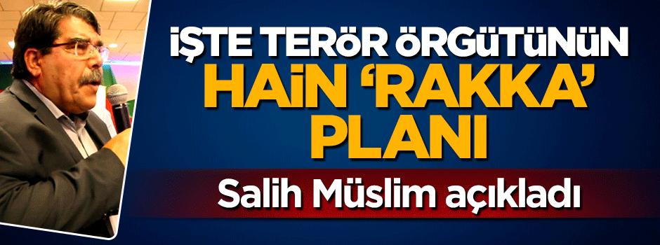İşte terör örgütünün Rakka planı! Salih Müslim açıkladı