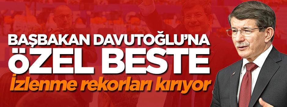 İzmir'de Başbakan Davutoğlu'na özel beste
