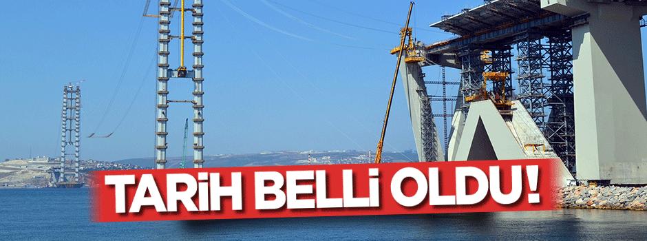 İzmit Körfez Geçişi Asma Köprüsü'nde tarih belli oldu