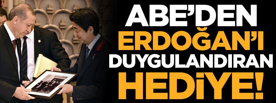 Japon Başbakan'dan Erdoğan'ı duygulandıran hediye!