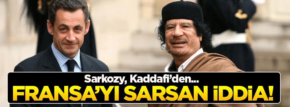 Kaddafi iddiaları Fransa'yı sarsıyor!