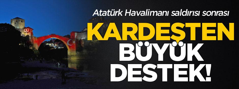 Kardeşten Türkiye'ye renklerle destek