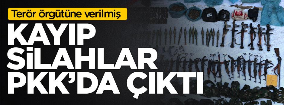 Kayıp silahlar PKK'da çıktı
