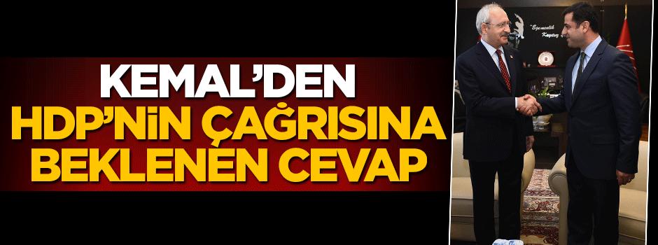 Kemal'den HDP'nin çağrısına beklenen cevap