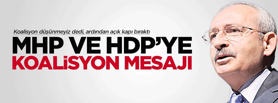 Kılıçdaroğlu, MHP ve HDP'ye göz kırptı