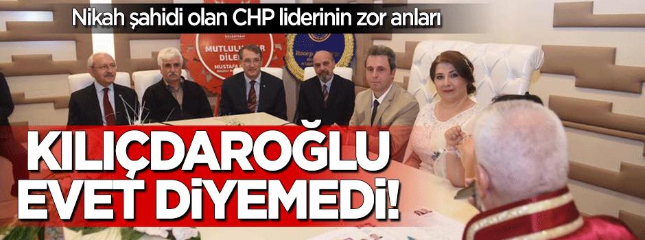 Kılıçdaroğlu nikah şahidi oldu 'evet' diyemedi