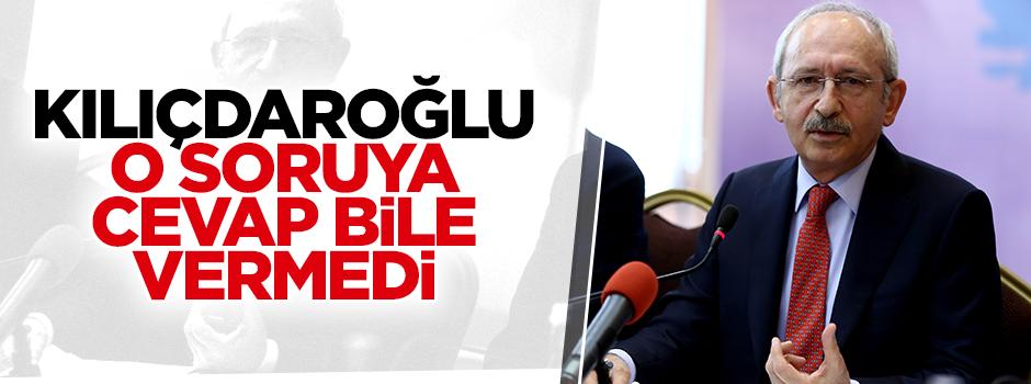Kılıçdaroğlu o soruya cevap vermedi!