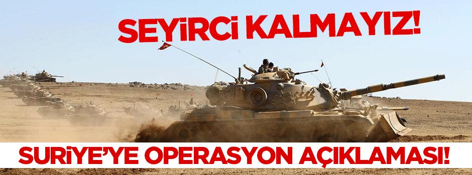 Kurtulmuş'tan Suriye'ye operasyon açıklaması!
