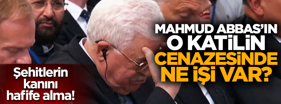 Mahmud Abbas Şimon Peres'in cenazesine katıldı!