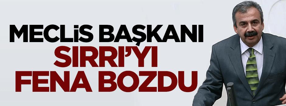 Meclis Başkanı HDP'li Sırrı'yı fena bozdu