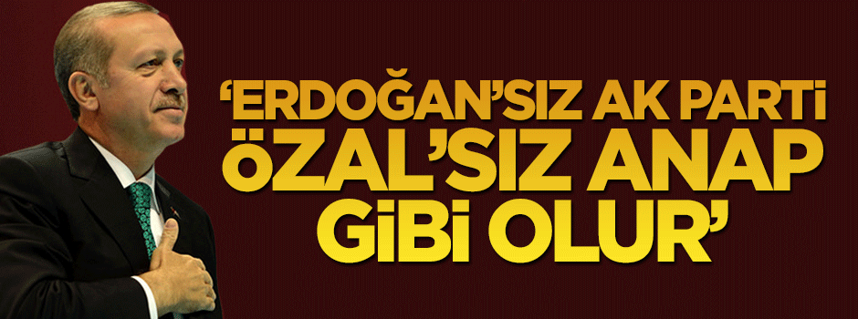 """Erdoğan'sız AK Parti, Özal'sız ANAP gibi olur"".."