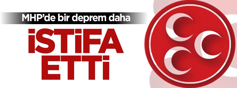 MHP'de şok: Resmen istifa etti