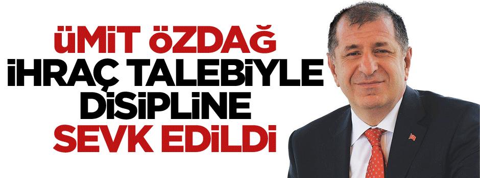 MHP'de flaş gelişme: Ümit Özdağ ihraç talebiyle disipline sevk edildi