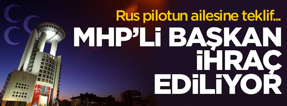 MHP'li başkan ihraç ediliyor