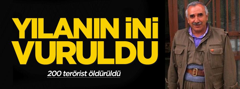 Murat Karayılan'ın karargahı vuruldu: 200 terörist öldürüldü!