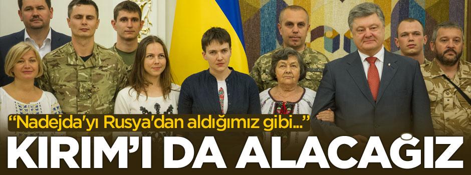 'Nadejda'yı Rusya'dan aldık, Kırım'ı da alacağız!'