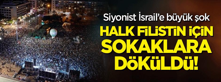 Netanyahu şokta! İsrail'de halk 'Filistin' için sokağa indi