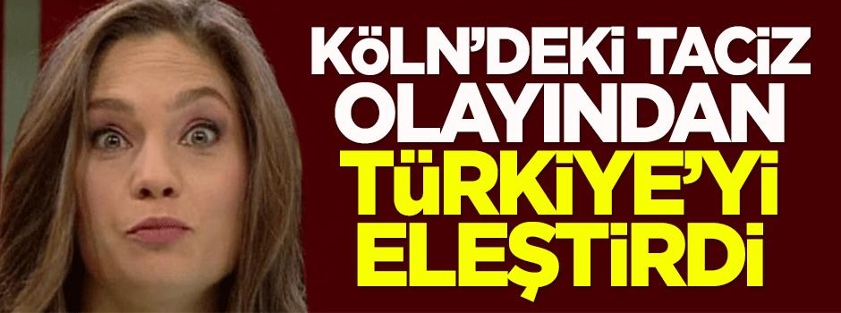 Mengü, Köln'deki taciz olayından Türkiye'yi eleştirdi