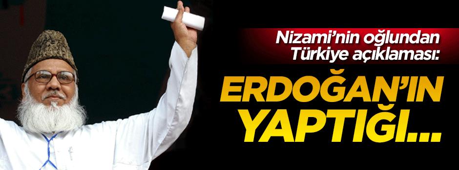 Nizami'nin oğlundan Türkiye'ye teşekkür