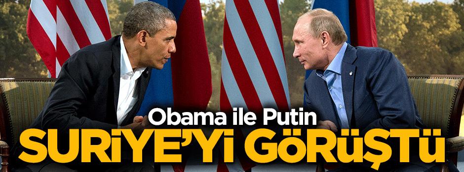 Obama ve Putin ile görüştü