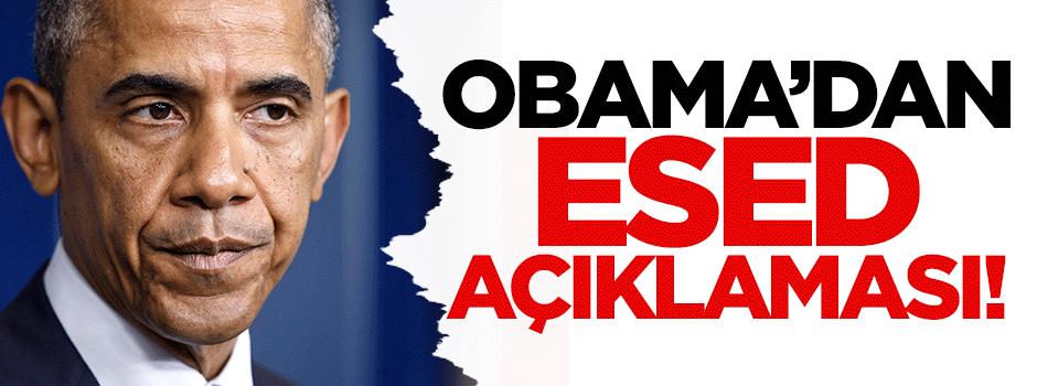 Obama'dan Esed açıklaması!
