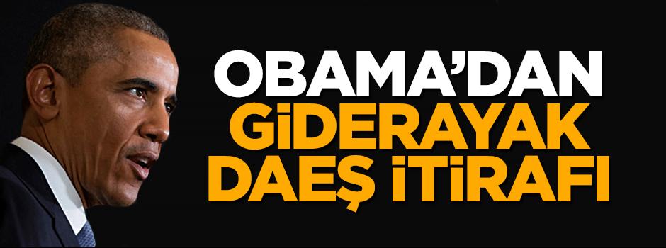 Obama'dan giderayak DAEŞ itirafı
