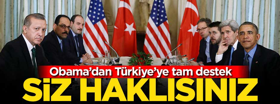 Obama'dan Türkiye'ye tam destek