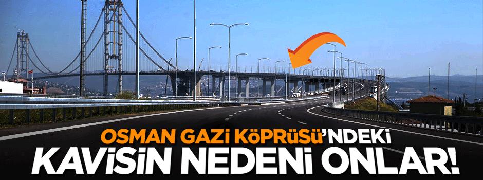 Osman Gazi Köprüsü'ndeki kavisin nedeni onlar!