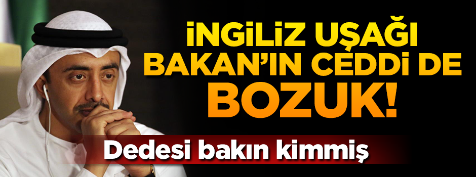 Osmanlı'ya dil uzatan İngiliz uşağı BAE'li Bakan'ın ceddi de bozuk!
