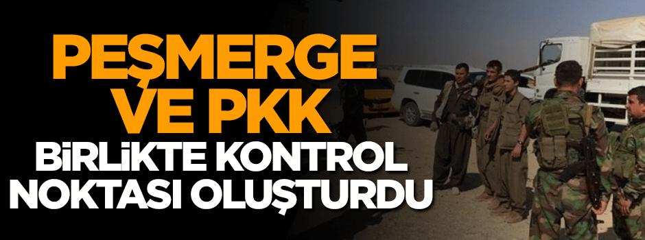 Peşmerge ve PKK birlikte kontrol noktası oluşturdu