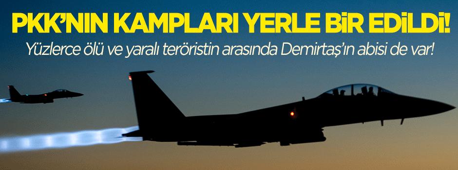 PKK kampları yerle bir edildi!