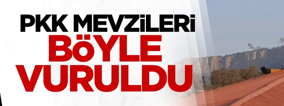 PKK mevzileri böyle vuruldu - VIDEO