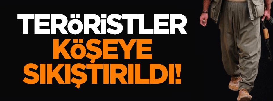 PKK'lı teröristler köşeye sıkıştırıldı!