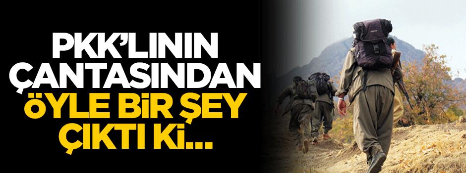 PKK'lının çantasından öyle bir şey çıktı ki...