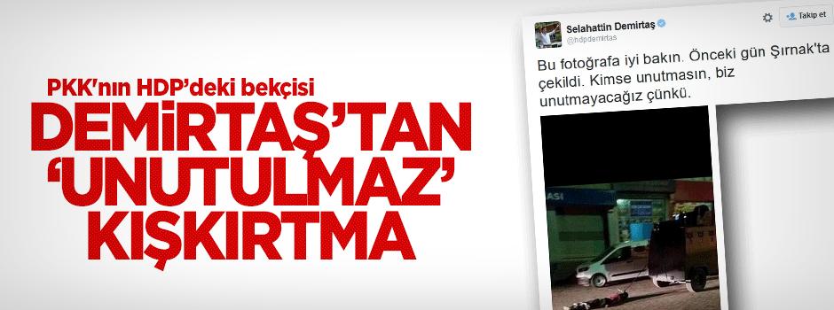 PKK'nın HDP'deki bekçisi Demirtaş'tan 'unutulmaz' kışkırtmas