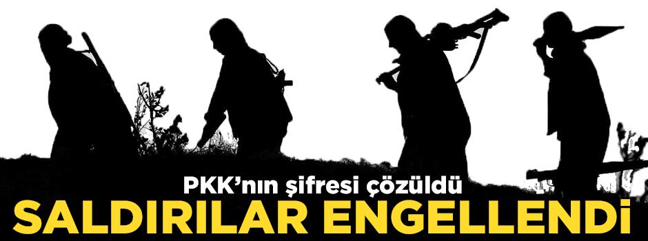 PKK'nın şifresi çözüldü saldırılar engellendi!