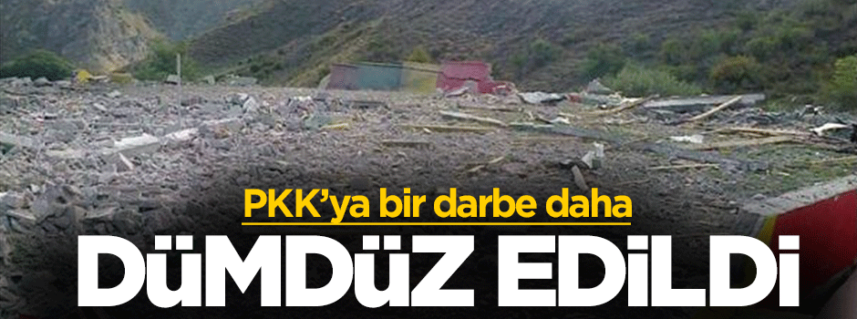 PKK'nın sözde  mezarlığı dümdüz edildi