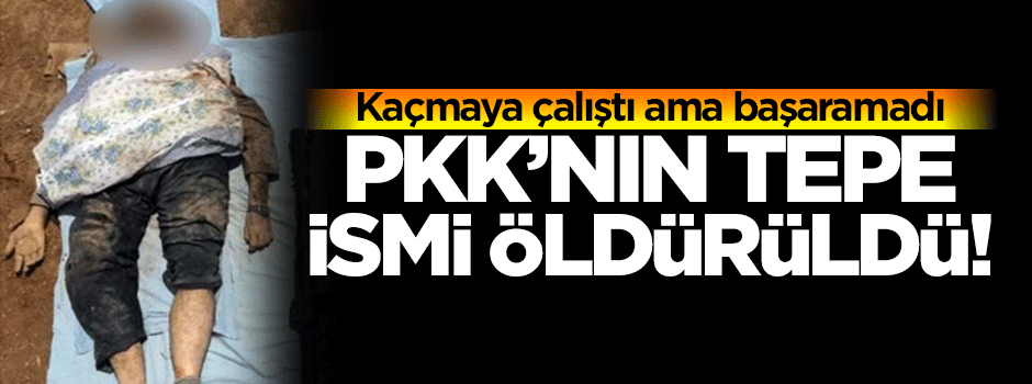 PKK'nın tepe ismi öldürüldü!