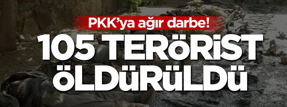 PKK'ya ağır darbe: 105 terörist öldürüldü