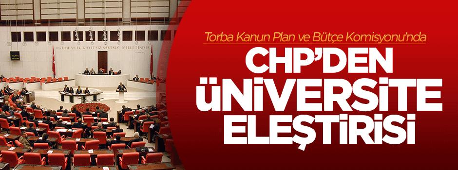 Plan ve Bütçe Komisyonu'nda üniversite tartışması